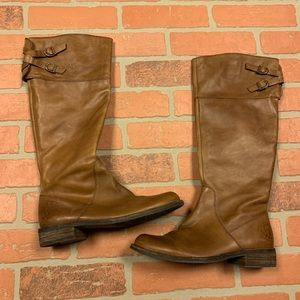 Vince Camuto Brown Buckle Riding Boots Keaton